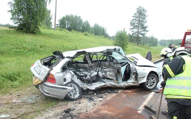 Liiklusõnnetus Tartumaal, fotod sündmuskohalt