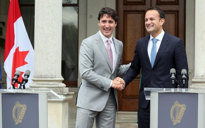 Kanada peaminister Justin Trudeau ja Iirimaa peaminister Leo Varadkar.