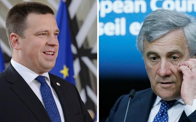 Jüri Ratas ja Antonio Tajani