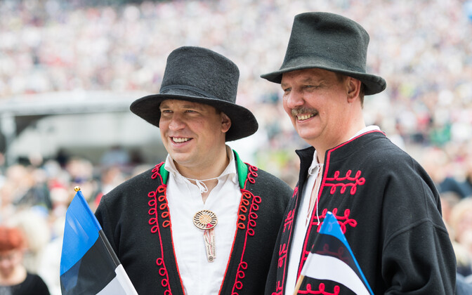 Center Party chairman Jüri Ratas and Taavi Aas, the party's mayoral candidate in Tallinn.
