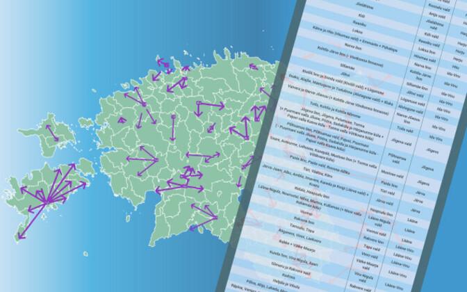 Sügisest on Eestis 213 omavalitsuse asemel 79.