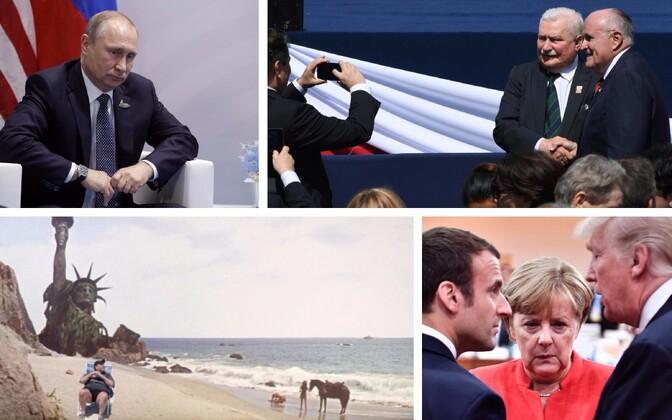 Putin Trumpiga kohtudes, Lech Walesa ja Rudolph Giuliani Varssavis, meem New Jersey kuberneri rannaskäigu teemal ja Macron, Merkel ja Trump G20 kohtumisel.