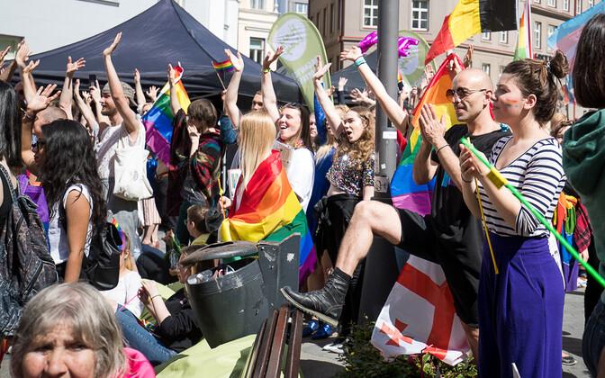 Гей-парад в Таллинне в 2017 году. Иллюстративная фотография.