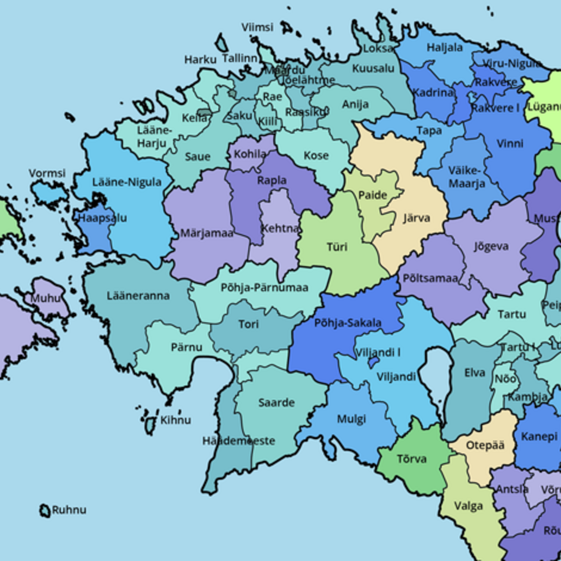 Picture of: Administrative Reform This Is The New Map Of Estonia News Err