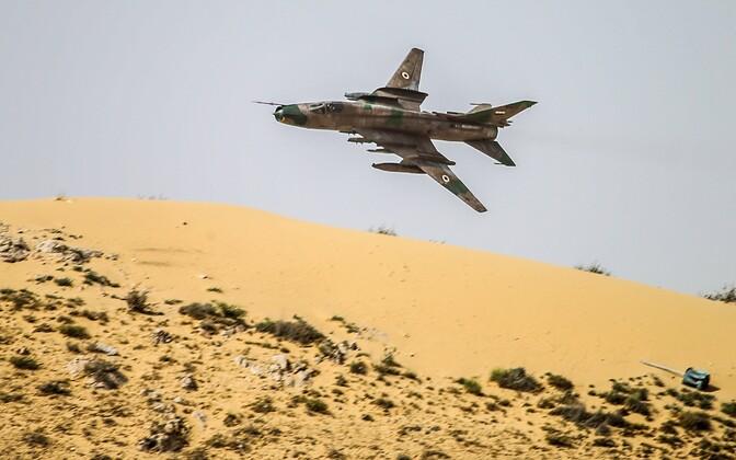 Süüria õhuväe sõjalennuk, arhiivifoto.