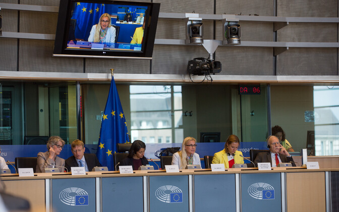 Simson addressing committees of the European Parliament, July 12, 2017.