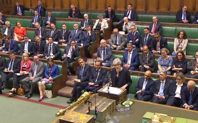 Peaminister Theresa May parlamendis.