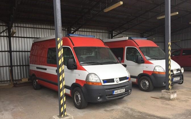 Bomb squad vans.