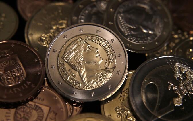 Läti eurod.