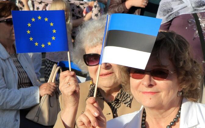 Inimesed Euroopa Liidu eesistumise kontserdil