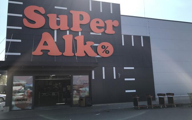 Super Alko kauplus Ainažis.