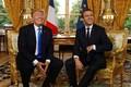 Donald Trump ja Emmanuel Macron Pariisis toimunud kohtumisel.