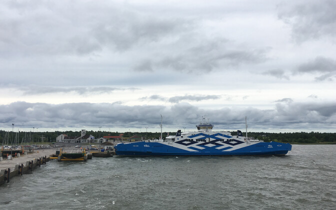 The Tõll ferry, on of the vessels which connects Estonia's islands to the mainland.