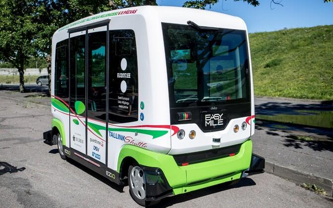 Самоуправляемый автобус.