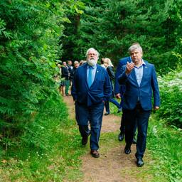 Министры окружающей среды Европы во время встречи в Эстонии вышли на свежий воздух.