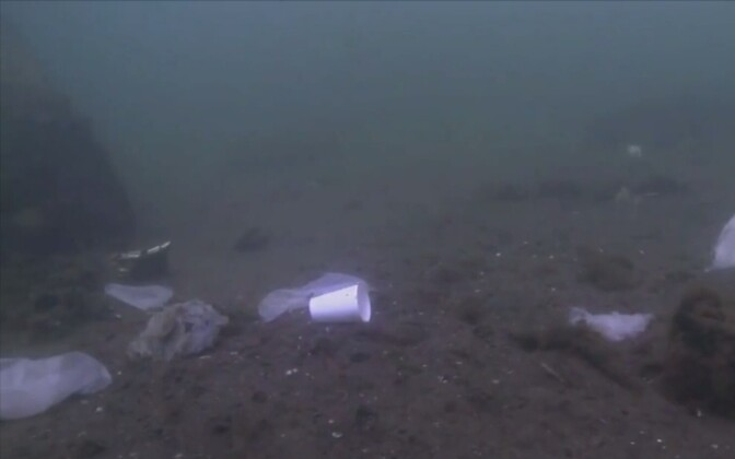 Plastprügi Läänemeres.