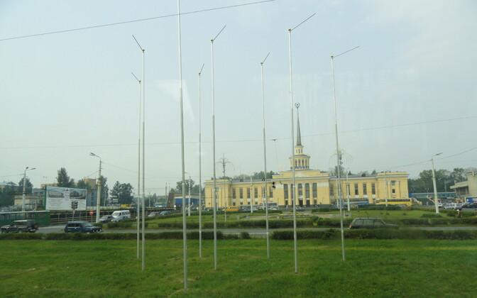 Площадь Гагарина в Петрозаводске.