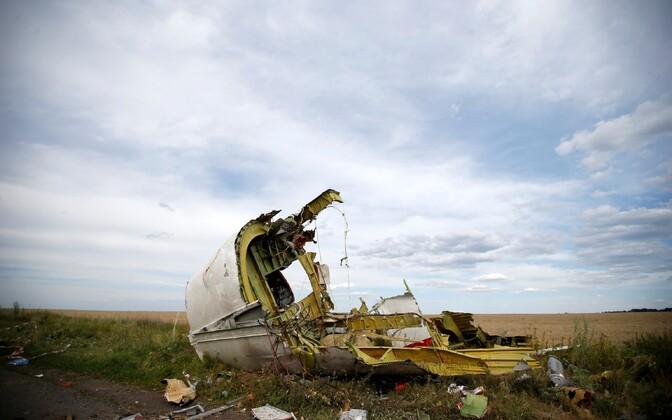 MH17 tükk Hrabove küla lähistel 2014. aasta 21. juulil.