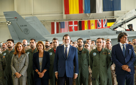 Spanish Prime Minister Mariano Rajoy and Prime Minister Jüri Ratas visit Ämari Air Base on Monday. July 17, 2017.