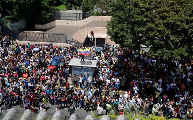 Venezuela opositsiooni toetajad.