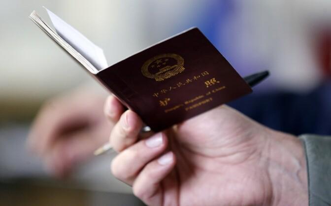 Chinese passport. Photo is illustrative.