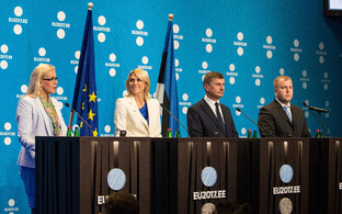 Minister of Economic Affairs and Infrastructure Kadri Simson, Minister of Entrepreneurship and Information Technology Urve Palo, European Commission Vice-President and European Commissioner for Digital Single Market Andrus Ansip, and Government Chief Info