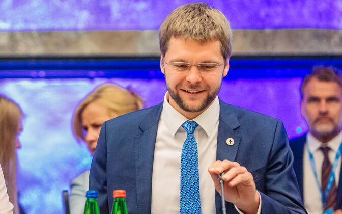 Minister of Social Protection Kaia Iva (IRL) and Minister of Health and Labour Jevgeni Ossinovski (SDE) hosting a two-day informal meeting of EU ministers of employment, social affairs, family and gender equality at Tallinn Creative Hub. July 19, 2017.