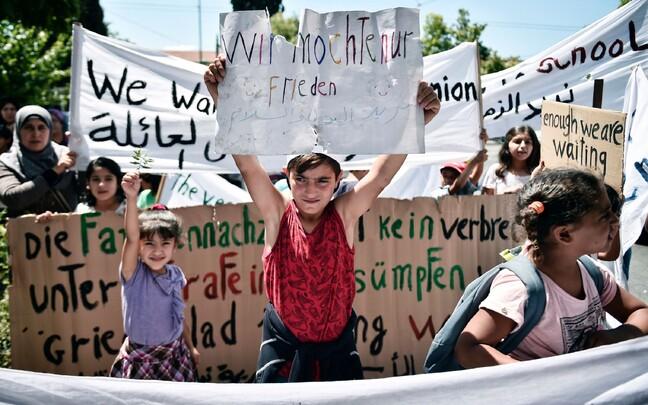 Протест у немецкого посольства в Афинах.