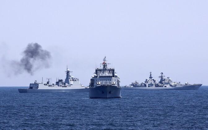 Китайские военные корабли прибыли вБалтийск для участия в общих учениях