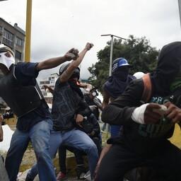 Opositsiooni meeleavaldajad.