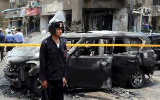 Plahvatuspaik, kus Hisham Barakat hukkus.