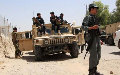 Афганские полицейские в Гильменде.