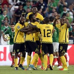 Jamaikalased võiduväravat tähistamas.