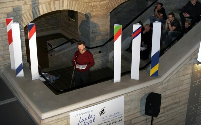 Sergei Zavjalov Põhjamaade luulefestivalil aastal 2005.