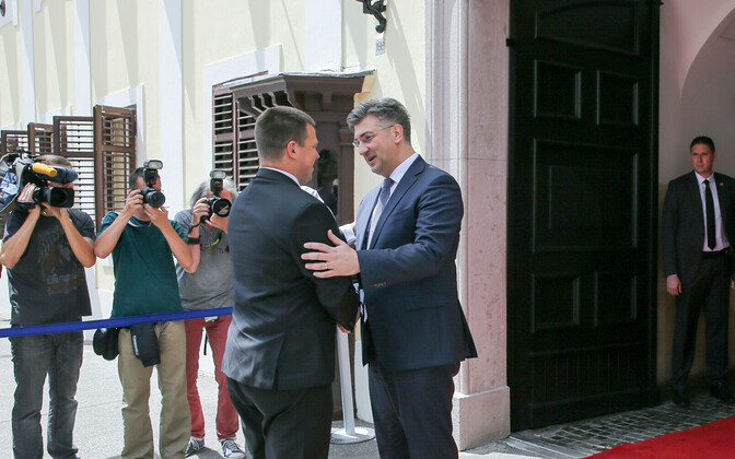 Ratas and Plenković in Zagreb, July 25, 2017.
