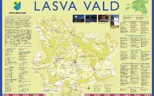 Map of the rural municipality of Lasva.