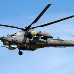 Russian Mil Mi-28 attack helicopter.