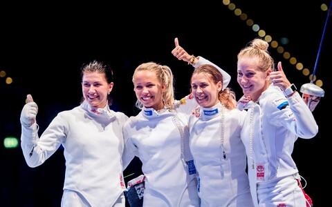 Слева направо: Юлия Беляева, Эрика Кирпу, Ирина Эмбрих, Кристина Кууск