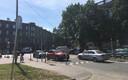 Kooli ees asuv lamav politseinik ülekäiguraja juures.