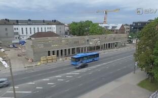 Pärnu ühistranspordi keskterminal sai nurgakivi.