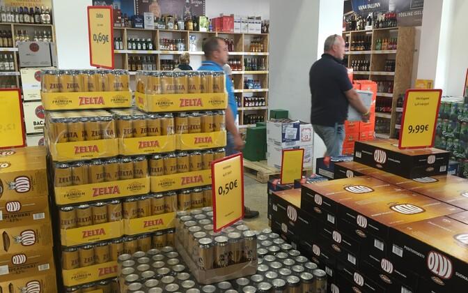 Alkoholipood Lätis.