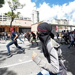 Opositsiooni toetajad Caracases.