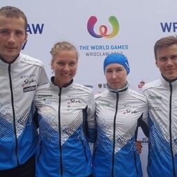 Eesti võistkond koosseisus Annika Rihma, Kenny Kivikas, Kristo Heinmann ja Evely Kaasiku.