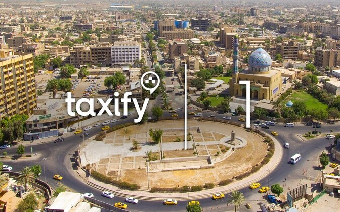 Taxify launched its platform in Baghdad on Thursday. July 27, 2017.