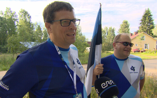 Eesti rallifännid Teet ja Maidu.