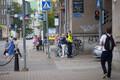 Кортеж Майка Пенса в центре Таллинна.