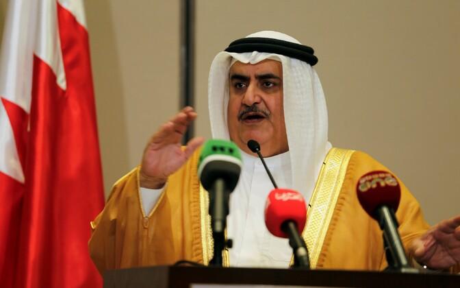 Bahreini välisminister, šeik Khalid bin Ahmed al-Khalifa.
