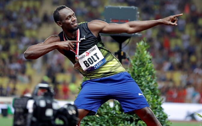 Usain Bolt Teemanliiga etapil Monacos