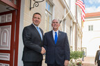 Prime Minister Jüri Ratas and U.S. Vice President Mike Pence at Stenbock House on Sunday evening. July 30, 2017.
