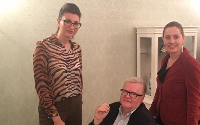 Ольга Иванова, Эдгар Сависаар и Оудекки Лооне.